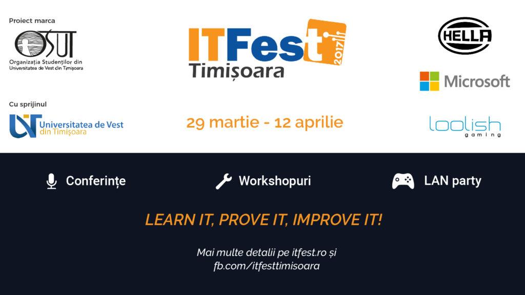 Înscrieri ITFest 2017