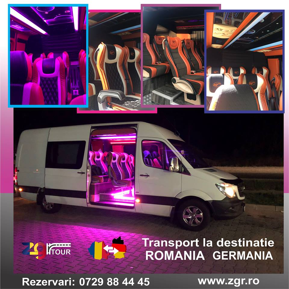 ZGR ofera transport din Germania catre Romania cu autocare noi, la preturi mici