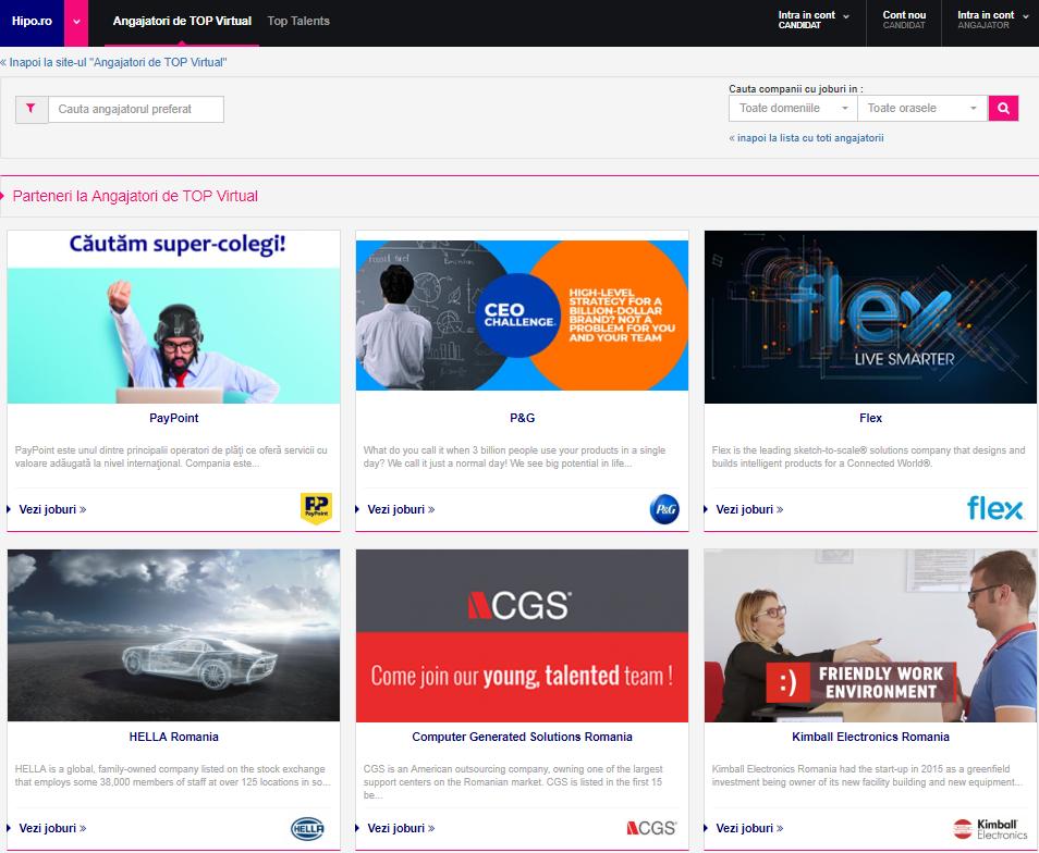 Târg online de joburi pe stilul generației Z!  160 de companii și peste 9000 de oportunități de carieră.