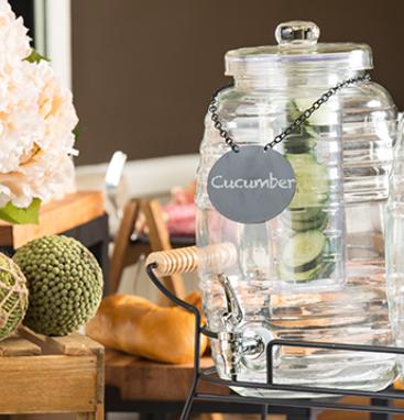 Dispenser Mason Jar 9,5 L BDG1000  - borcan cu robinet dispenser de limonada - rosehome.ro